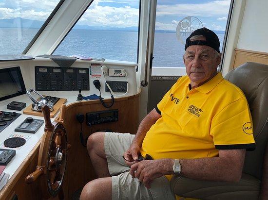 Madang, Papua New Guinea: Sir Peter on Bridge, Kalibobo Spirit