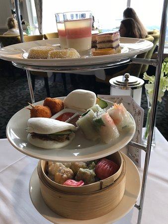 Lovely non-traditional high tea with an incredible view
