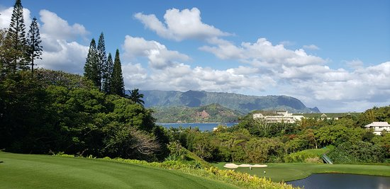 Princeville Makai Golf Club: View from the #7 tee box.