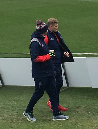 The County Ground: Two blokes out for a walk