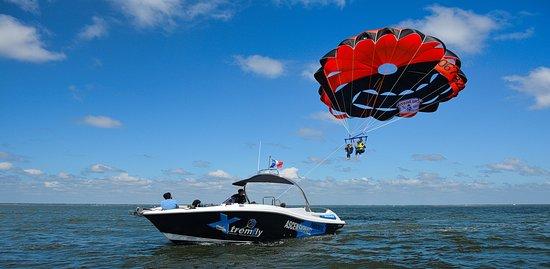 XTREMFLY parachute ascensionnel sur le bassin d'arcachon