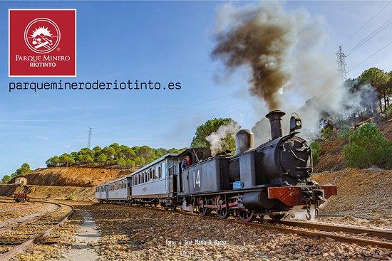 Minas de Riotinto, Španělsko: Tren Vapor (primer Domino de mes de Noviembre a Abril)