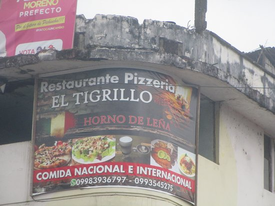 El Tigrillo: Look for this sign