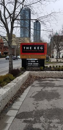 The Keg Steakhouse + Bar Mansion: The sign