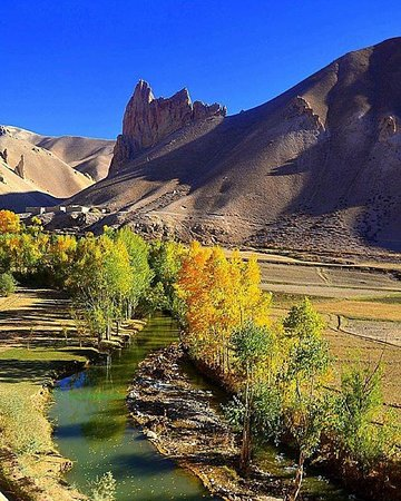 Bamyan Province, Afganistan: beautiful river in yakawlang