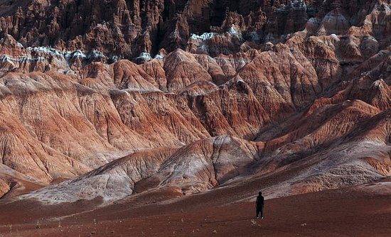 Bamyan Province, Afganistan: colored hill in Yakawlang