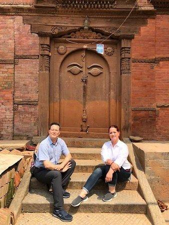 At Kathmandu city center...