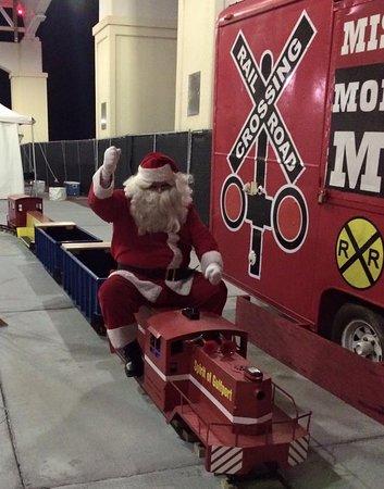 Mississippi Coast Model Railroad Museum: Santa loves our train!!