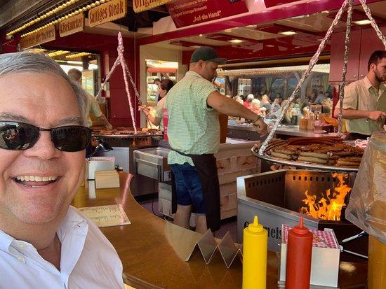 Bratwurst vendor