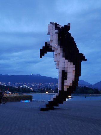 Love the Digital Orca sculpture at Jack Poole Plaza next to the Vancouver Convention Centre