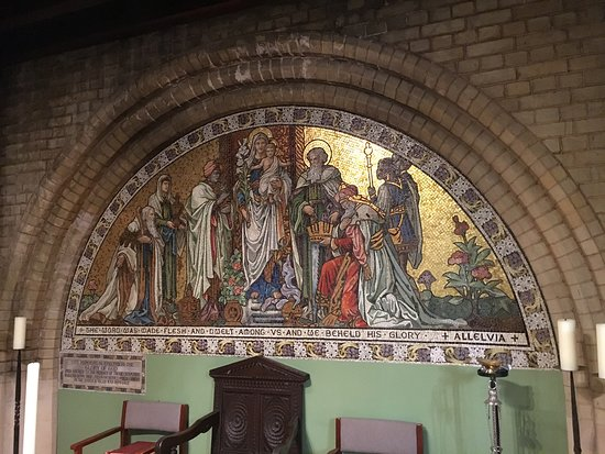 Cathedral of St Michael and St George: Beautiful mosaic in the Lady Chapel