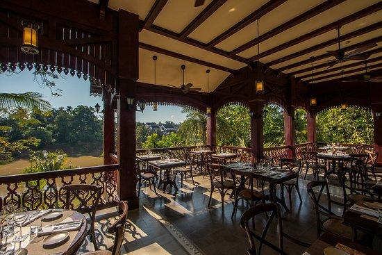 Balcony of Restaurant is facing the Namkhan River