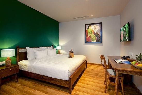 phòng Premier Twin có 2 giường 1,2mx2m đệm êm, chất liệu 100% cotton  thoáng mát. có ban công nhìn xuống hồ bơi  – obrázok Salmalia Boutique Hotel & Spa, Da Nang - Tripadvisor