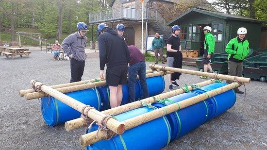 Raft Building with Talkin Adventures