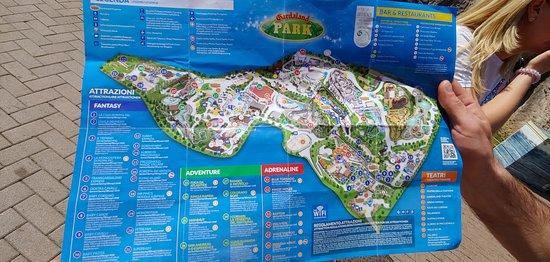 Gardaland map