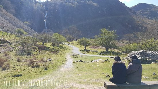 Aber Falls from the distance - a picture postcard :)