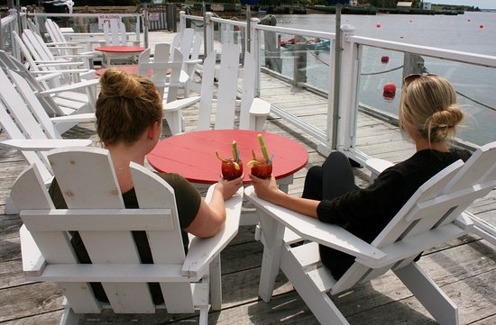The Rope Loft: Ladies Enjoying a Cocktail on the Deck