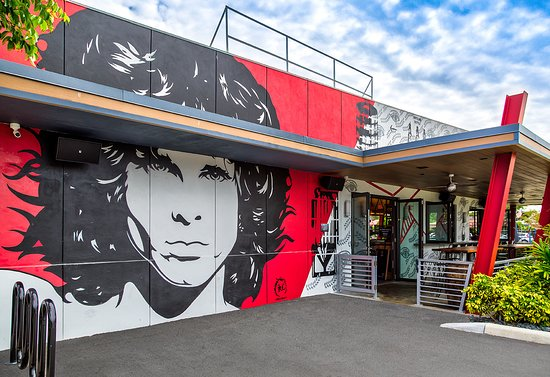 American Icon Brewery Kitchen & Taproom: American Icon's distinctive Jim Morrison building