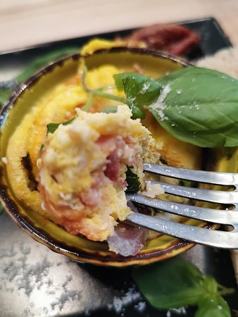 Egg Muffin with ham and onions #breakfast#