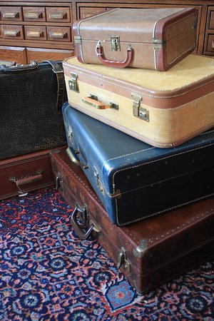 Spearfish, SD: Many of our items are part of a collection.  These stacked suitcases are an example of multiple items that are offered within the store.