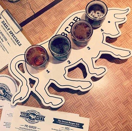 Bull City Burger and Brewery: Beer flights