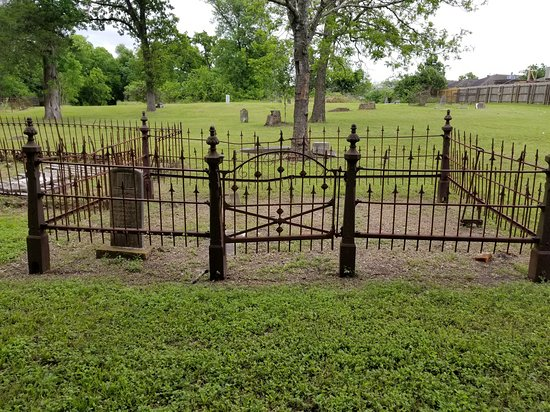 Brenham, TX: View of part of the cemetery