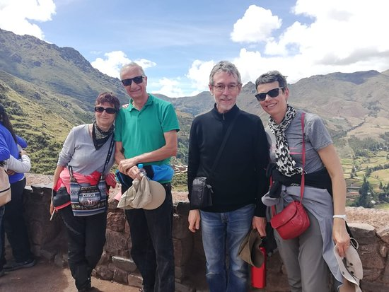 Andean Spirit Adventure: Passengers from FRANCE: Anna, Gilbert, Philippe and Nathalie in the SACRED VALLEY