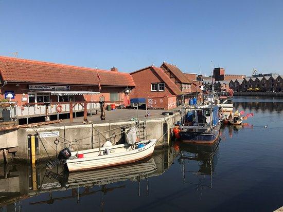 Wismar, ألمانيا: Alter Hafen und Fischdieb