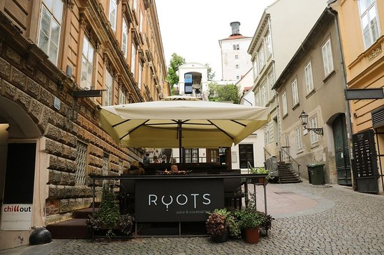 Our Little Terrace Underneath The Shortest Funicular In The World Uspinjaca Photo Punkufer Roots Juice Cocktail Bar Zagreb Tripadvisor