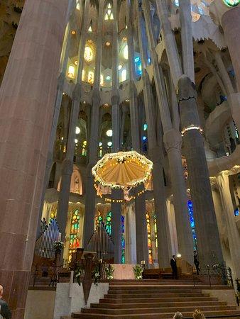 Basilica of the Sagrada Familia Admission Ticket with Tower Access: Altar area