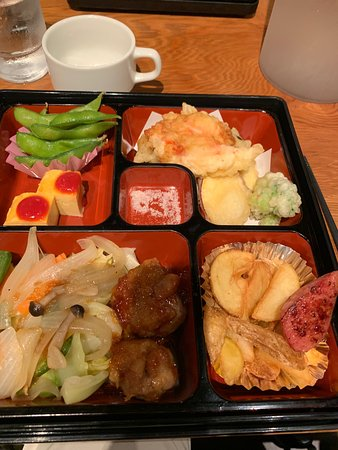 Bento box fixed meal enjoyed with a group of 15. Restaurant was closed to others.
