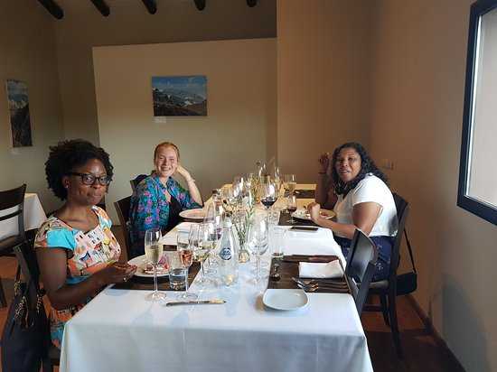 All day, small group, luxury wine tour with gourmet lunch: Lunch at winery