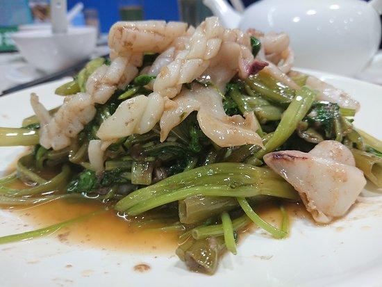 蝦醬通菜炒鮮魷($88)