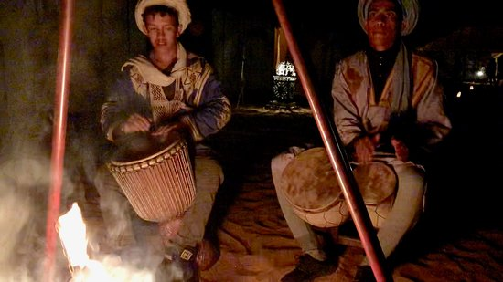 Campfire and Berber music complete the night at Quiet Merzouga Desert.
