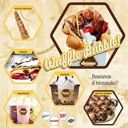 - Waffle Bubble - Waffle Piruleta - Crepes - Smoothies - Frappés