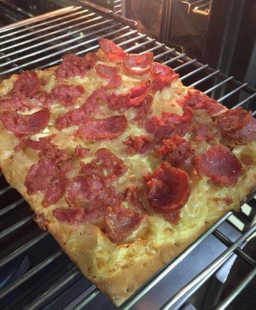 Senac Blumengarten: Flammkuchen: a pizza alemã.