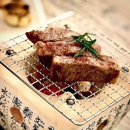 Charcoal grilled Japanese wagyu