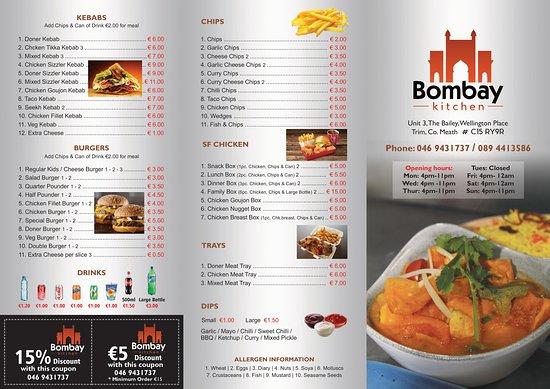 Bombay Kitchen, Trim - Menu, Prices & Restaurant Reviews - TripAdvisor