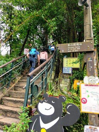 Elephant Mountain (aka Nangang District Hiking Trail): Entering the trail for Elephant Mountain.