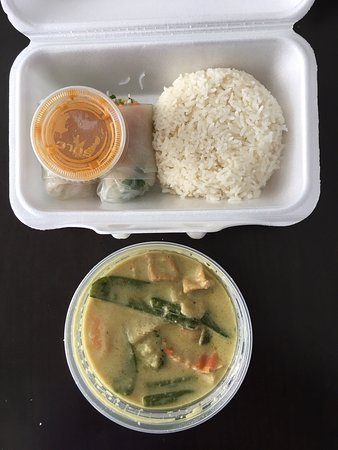 Enjoyed the Green Curry lunch special