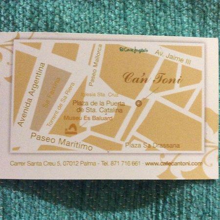 Cafe Ca'n Toni: Address details.
