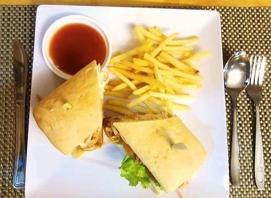 Salad Khmer: Pulled Pork Sandwich