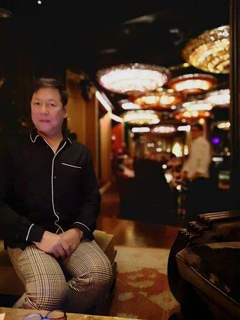 Salon de Ning - The Peninsula Manila: leading to main dance area with ornamental drop lights