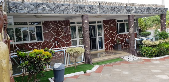 Wa, Ghana: Front view of Pelican Hotel