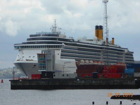 Greenock, UK: Vista sul porto