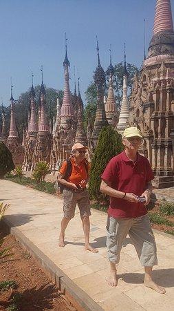 Mwaetaw katku pagodas  with my special Switzerland couple.