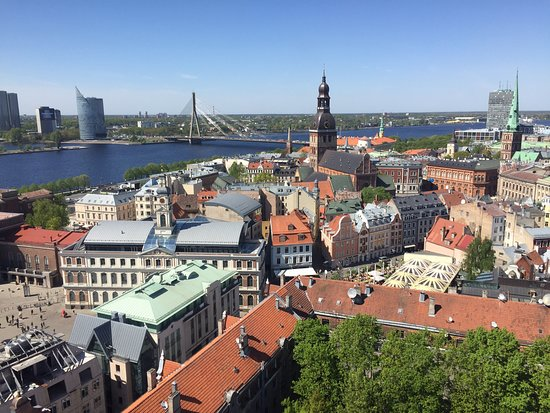 ‪View of Riga from St Peter's Church Tower‬