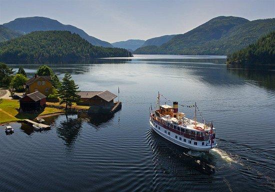 Fjord Lake Crossing of Norway