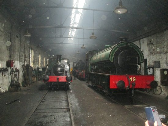 Engines in the works shed