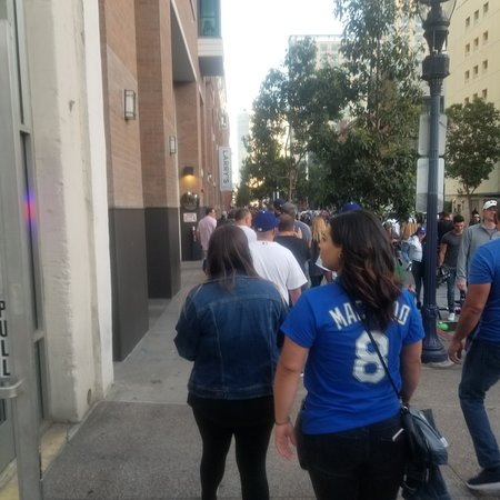 Petco Park: Lined up to get in!